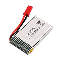 uxcell® 3.7V 650mAh Rechargeable Lithium Lipo Battery for FY550 K891 U807 RC Helicopter