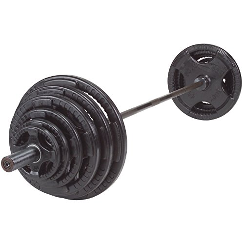 Rubber-Grip-Olympic-Weight-Sets-with-Chrome-7-Barbell