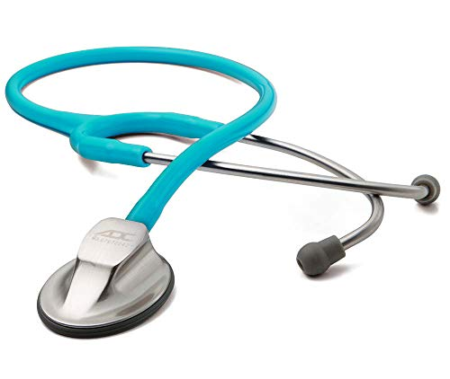 ADC Adscope 615 Platinum Sculpted Clinician Stethoscope with Tunable AFD Technology,, Turquoise