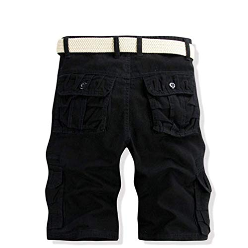 Spiaggia Ragazzi Nero Corti Ufige Classiche Uomo Borse Colour Da Lavoro Sportivi Jogging Pantaloni Pantaloncini Bermuda Pure 6U68p41