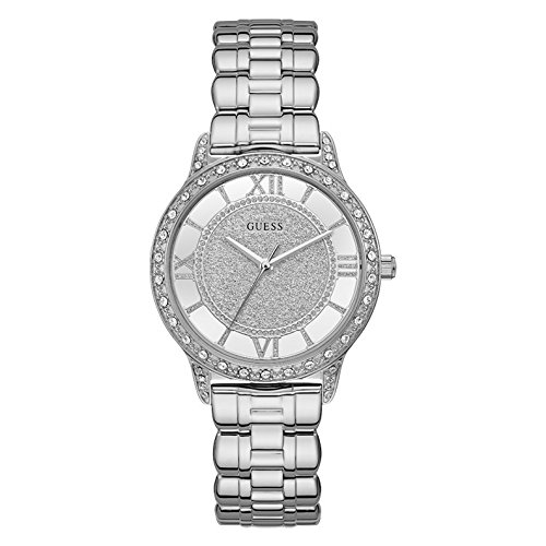 Guess Ethereal Silver Dial Stainless Steel Ladies Watch W1013L1