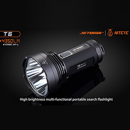 Bazaar JETBeam T6 4xCREE XP-L High Power 6-Modus 4350LM 18650 Camping im Freien LED Taschenlampe