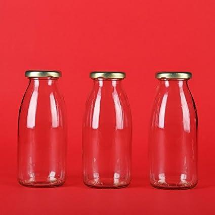 40 botellas vacías de vidrio 200 ml botellas de jugo 0,2 litros 40 pieza
