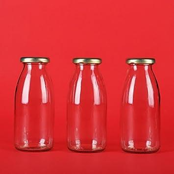 40 botellas vacías de vidrio 200 ml botellas de jugo 0,2 litros 40 pieza slkfactory: Amazon.es: Hogar