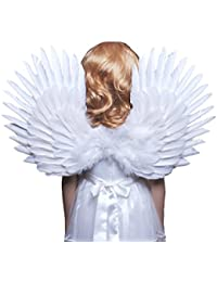 (TM Children's White Feather Angel Wings Duo Use Pointing up or Down