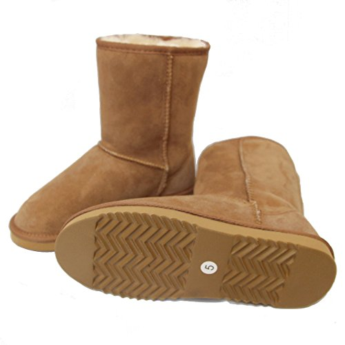 Deluxe Short Sheepskin Boots with British Sheepskin - Chestnut OcmbPk6gA5