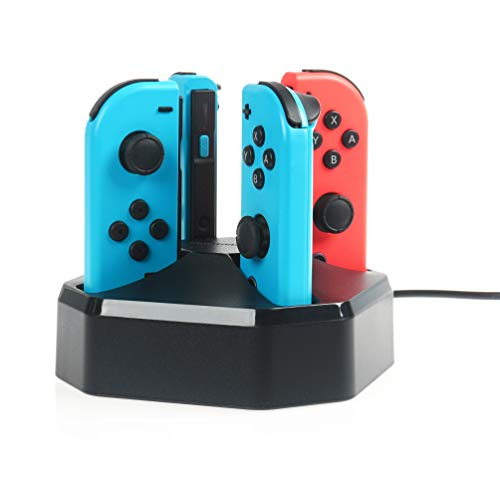 Amazon Basics- Estación de carga para Nintendo Switch , Joy-Controllers ,  negro