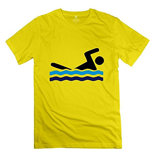 Fire-Dog Men's Swimmer Sport Tee Size XL Yellow (Christmas Samsung Promotion)