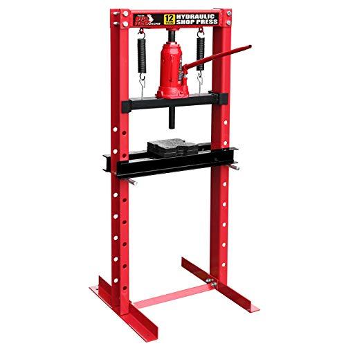 Torin Big Red Steel Frame Hydraulic Shop Press, 12 Ton Capacity 12 Ton Shop Press