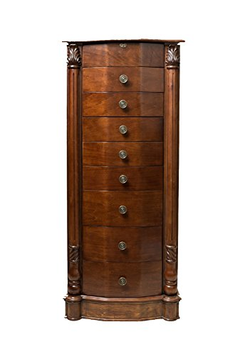 """Hives and Honey """"ANTOINETTE"""" Jewelry Armoire, Antique Walnut"""