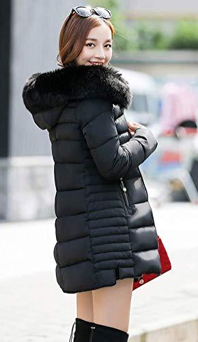 Automne Hiver Magike Doudoune Longue Manteau Femme Epais Coton Chaud Vtement Noir SqStE