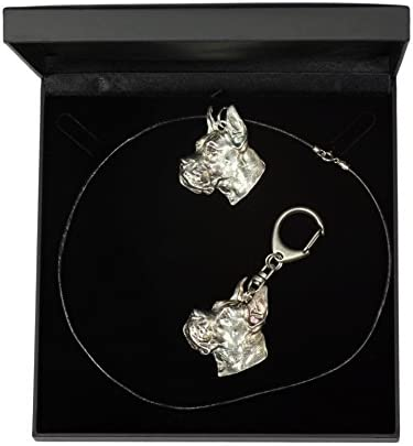 Deutsche Dogge cropped Great Dane limited edition keychain pointed ears ArtDog dog keyring Dog keyring for dog lovers