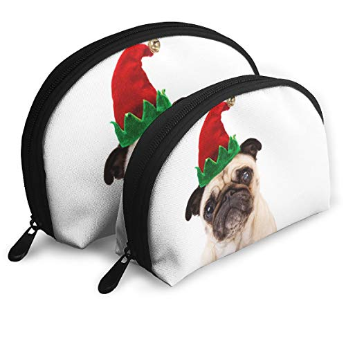 Child Goods Christmas Pug Multi-Functional Portable Bags Clutch Pouch ()