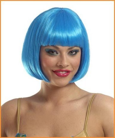 Deluxe Blue Sassy Wig