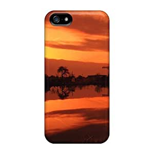Durable Nature Sundown Windmills At Sunset Back Case/cover Case For Iphone 4/4S Cover