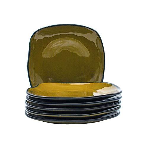 Tuxton Home THGAJ502-6B Artisan Dinner Plate, 11-Inch, Olive Green (Green Olive Plate Dinner)