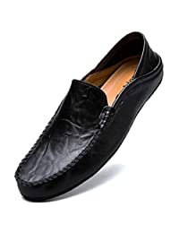 3834a1aebfe6c RDGO Penny Loafers Men Shoes Slip On Moccasins Driving Shoes Lightweight  Flats Leather Casual Boat Shoes