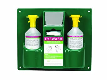 Heathrow Scientific HD1020B Personal Eyewash Station with Two 32 ounces Bottle, 355mm Width x 425mm Height x 105mm Depth