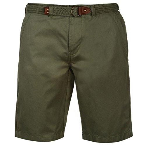 (Pierre Cardin Mens 100% Cotton Summer All Over Print Long Knee Length Cargo Shorts - Multicoloured - Small - XL (Medium, Light Khaki))
