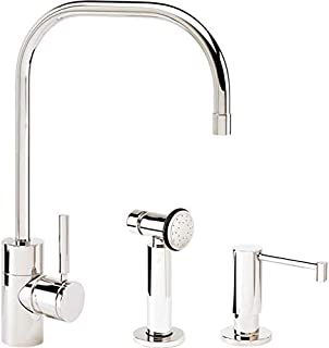 product image for Waterstone 3825-2-AB Fulton Kitchen Faucet 2pc. Suite Antique Brass