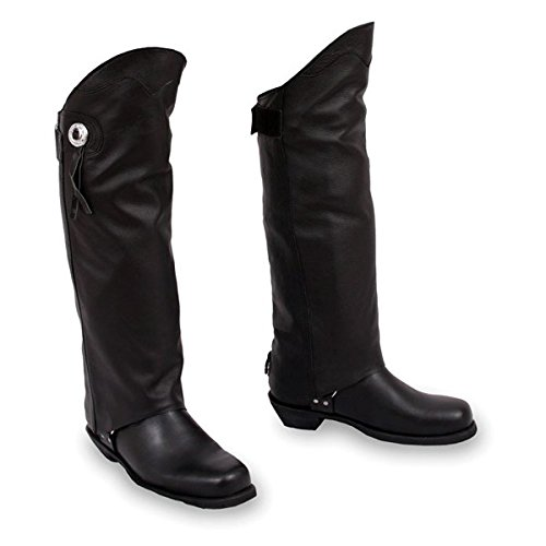 First Manufacturing Unisex Half Chaps (Black, X-Small/Small)
