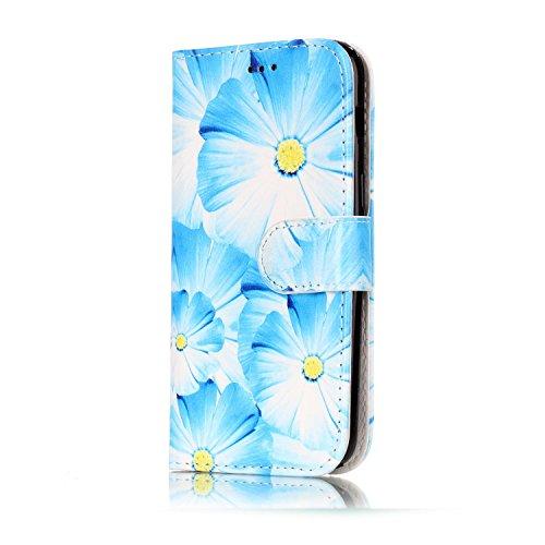 Wallet Case Galaxy A5 (2017 version) Funda Suave PU Leather Cuero Cubierta Impresión Libro- Sunroyal® Ultra Slim Movil Case Flip Cover Bumper Parachoques Cierre Magnético Función Soporte Plegar,Billet C-07