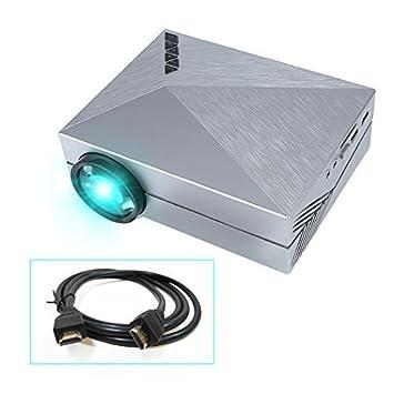 Crenova® XPE450 Mini Proyector Portable 1000 lúmenes 800*480 Resolución con Cable libre HDMI para Cinema Teatro en casa Entretenimientos Conexión con ...