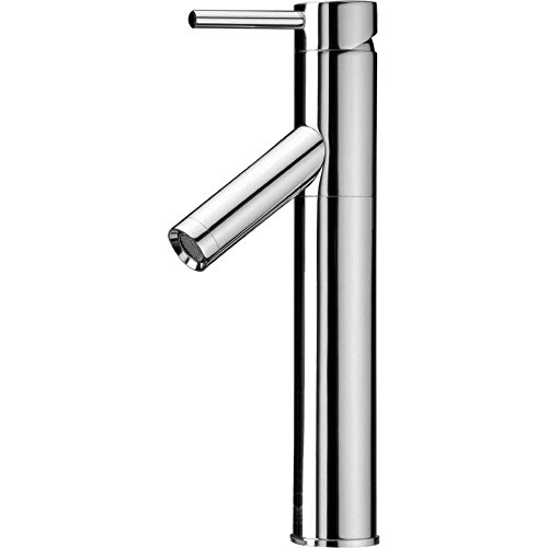 VIGO VG03003CH Dior Single Handle Seven Layer Plated Antique Brass Bathroom Lavatory Vessel Faucet Chrome Finish for Vessel (Chrome Plated Single)