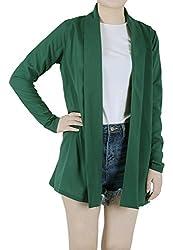 Favelem Womens Long Sleeves Shawl Collar Open Front Drape Chiffon Long Cardigans