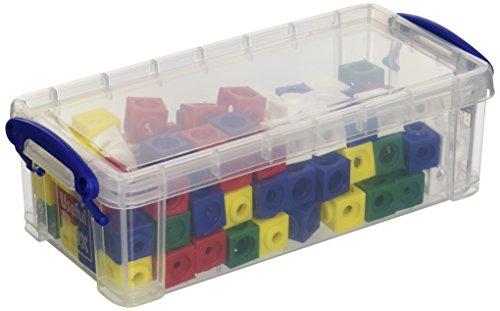 Dick-System 170100 100 Steckwürfel 5-farbig in der Box, Kantenlänge 1,7 cm