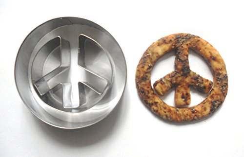 LAWMAN Peace Sign Cookie Cutter Fondant Pastry Candy Baking Biscuit Metal Mold ()
