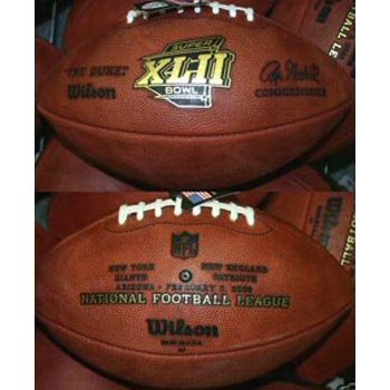Super Bowl 42 XLII Wilson Official NFL Game Football