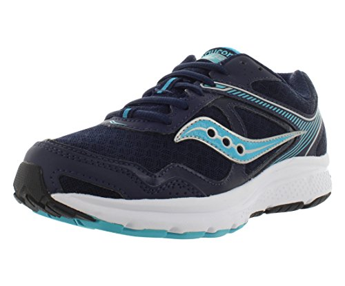 Saucony Grid Cohesion 10 Wide Women's Running Shoes Size US 8.5, Wide Width, Color Navy/Sky