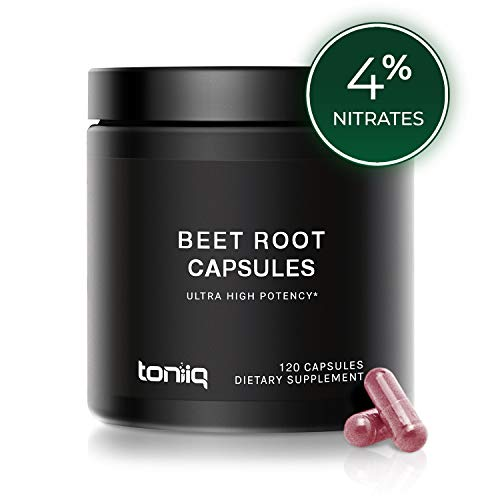 Ultra High Strength Beet Root Capsules – 4% Nitrates – 1400mg – The Strongest The Strongest Nitric Oxide Booster Available Available – 120 Caps