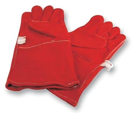 WELDABILITY EAD009 guantes soldador rojo [tamaño del paquete: 2] (epítome certificado)