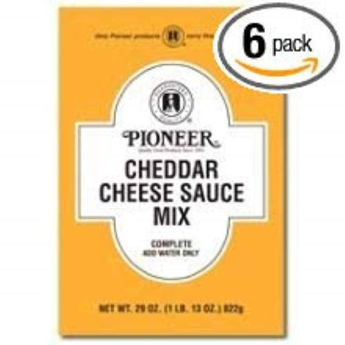 Pioneer Cheddar Cheese Sauce Mix, 29 Ounce -- 6 per case.