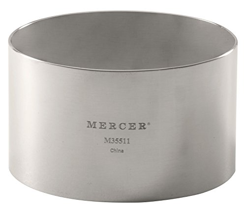 Mercer Culinary Steel Ring Mold Chef, 3 Inch x 1.75 Inch, Stainless ()