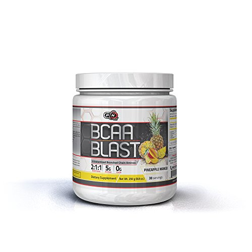 Bcaa Blast Powder Branched Chain Amino Acids Men Women Instantized Boosts Absorption Added Glutamine for Fast Better Recovery Perfect 2 1 1 Ratio Superior Results Great Flavors (250g, Pineapple Mango)