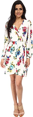Brigitte Bailey Women's Demri Lux Dress Spring White Floral Dress LG (Dresses For Spring)