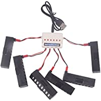 YouCute 6PCS 350mAh batteries and 1to 6 charger for JY018 EACHINE E52 Wifi Rc Drone (6PCS batteries +Charger)