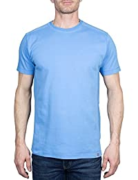 KIRSH Men's Short Sleeve All Cotton Interlock Crew Neck Tee Shirt (See More Colors and Sizes)