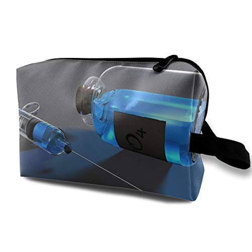 Storage Bag Travel Pouch Chemistry Syringes Purse Organizer Power Bank Data Wire Cosmetic Stationery Holder