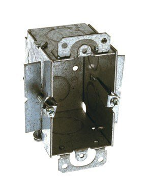 Hubbell-Raco 509 Gangable 2-1/2-Inch Deep Switch Electrical Box, (2) 1/2-Inch End Knockouts, Old-Work Side Clips, 3-Inch x 2-Inch