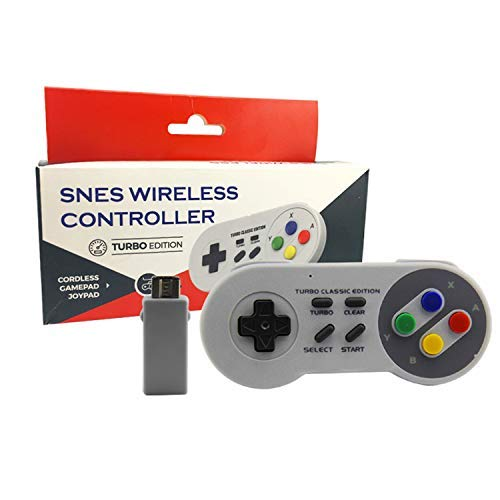 Amazon.com: Snes Wireless Controller (Turbo Edition) Super Nintendo Gamepad + USB Receiver for PC MAC: Video Games