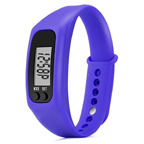 Sport Watch,Hosamtel Run Step Calorie Counter Digital LCD Walking Distance Bracelet Pedometer A34 (Navy - Dealers Online Phone