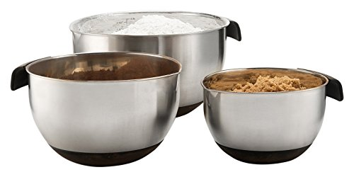 Sagler Set of 3 Stainless steel Mixing Bowls