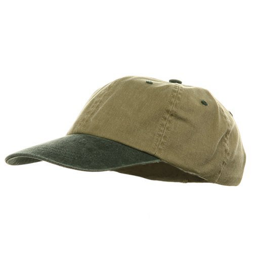 Youth Pigment Dyed Washed Cap - Khaki Dark Green W19S25C