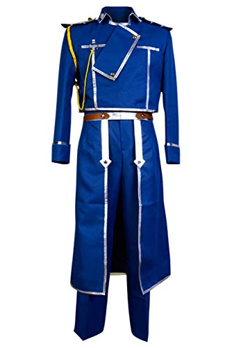 NoveltyBoy Fullmetal Alchemist Colonel Roy Mustang Military Uniform Cosplay Costume Halloween Suit]()