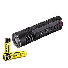 NiteCore EC4S CREE XHP50  2150 lm LED Flashlight with Battery, Black, Left/Right