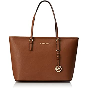 77eb5aaf4c4a7 Amazon.com  Michael Kors Jet Set Travel Ladies Medium Leather Tote ...